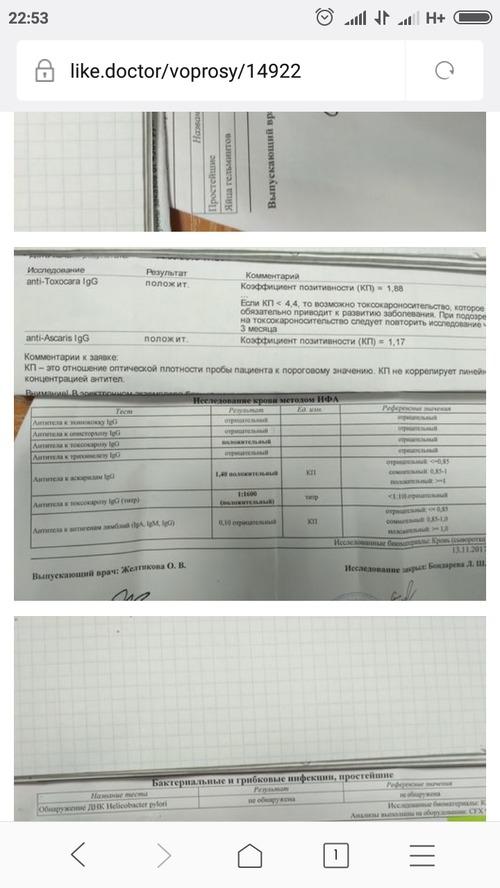 Антитела к токсокорозу - фото №1