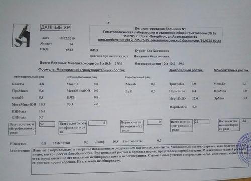 Тробмоцитопения+нейтропения неизвестной этимологии - фото №14