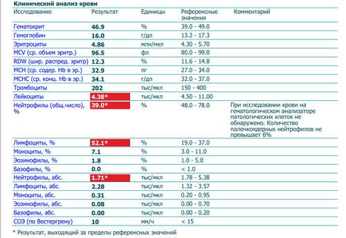 Расшифровать общий анализ крови - фото №1