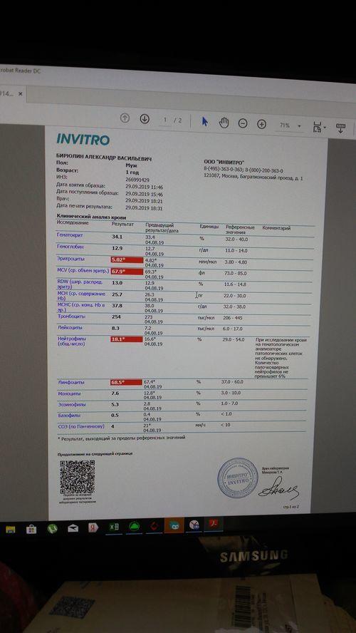 Расшифровка анализа крови - фото №1